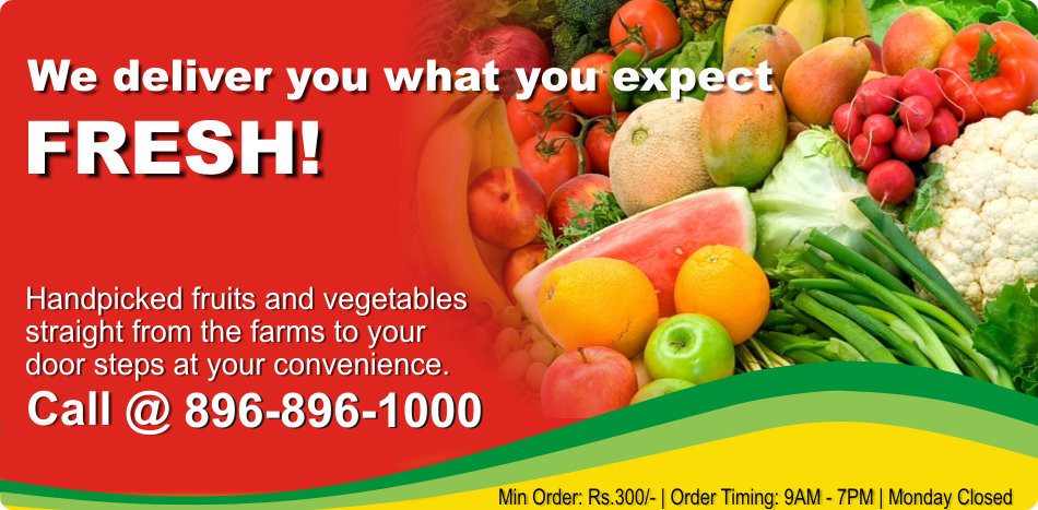 Best fruits and vegetable in Chandigarh, Panchkula, Mohali and Ludhiana