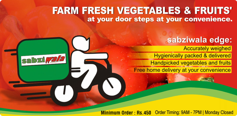 Farm fresh vegetables and fruits at your door step