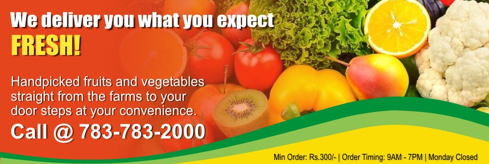 We deliver you what you expect... Fresh!